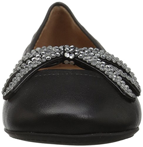 Marc Jacobs Flat Ballerina Black Strass Willa Bow Women's Ballet qSn6qOr