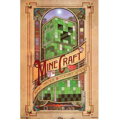 (22x34) Minecraft Computronic Video Game Poster