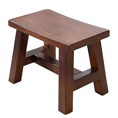 Marvelous Amazon Com Czlsd Solid Wood Stool American Low Stool Home Inzonedesignstudio Interior Chair Design Inzonedesignstudiocom