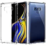 MoKo Samsung Galaxy Note 9 Case, Crystal Clear Reinforced Corners TPU Bumper Cushion + Anti-Scratch Hybrid Rugged Transparent Panel Cover Case for Samsung Galaxy Note 9 - Crystal Clear