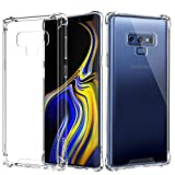 Cheap MoKo Samsung Galaxy Note 9 Case, Crystal Clear Reinforced Corners TPU Bumper Cushion + Anti-Scratch Hybrid Rugged Transparent Panel Cover Case for Samsung Galaxy Note 9 – Crystal Clear