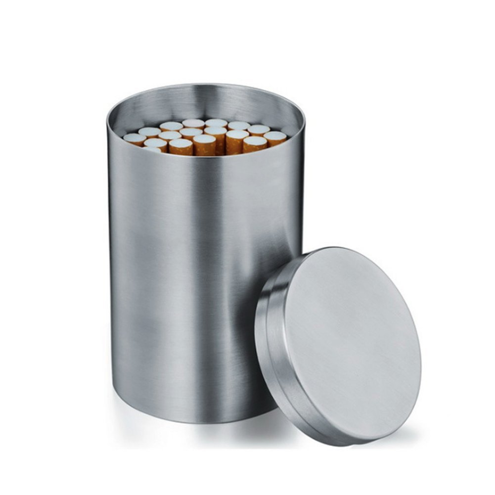 LANYUER C5 Cigarette Case 50pc Vertical Stainless Steel Business Gift Cigarette Accessories Box Tea Storage Travel Can