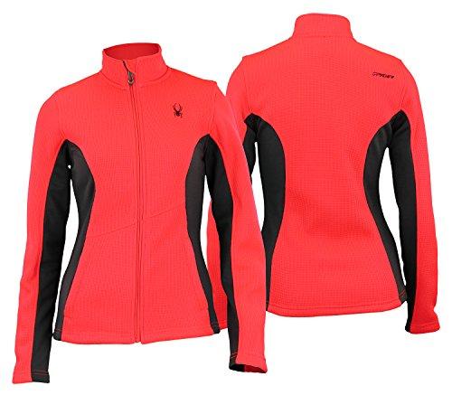 (Spyder Womens Full Zip Fleece Top Bryte Pink M)
