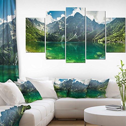 Designart Green Mountain Lake at Tatras-Landscape Wall Art Canvas Print