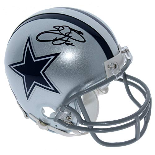 Emmitt Smith Dallas Cowboys Autographed Signed Riddell Mini Helmet - PSA/DNA and PROVA Authentic ()