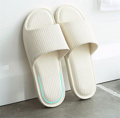 Medio YMFIE Interior el respetuosos y Zapatillas Sandalias Piso con Fondo Blando Ambiente Verano white Interior patinado wrrq0pI