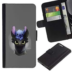 JackGot ( Cartoon Comic Anime japonés Criatura Animal ) Apple (5.5 inches!!!) iPhone 6+ Plus / 6S+ Plus la tarjeta de Crédito Slots PU Funda de cuero Monedero caso cubierta de piel