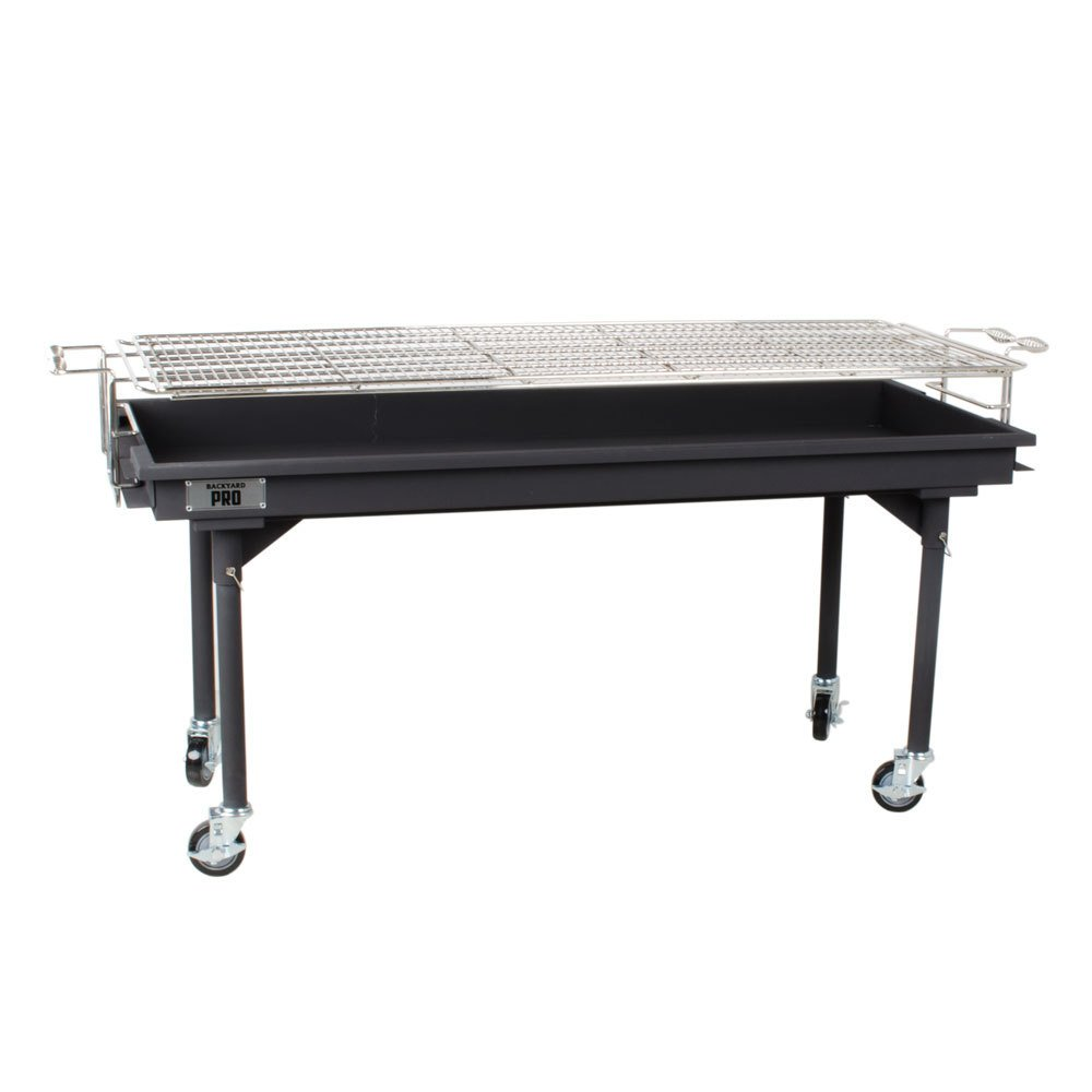 Backyard Pro CHAR60 60'' Heavy-Duty Steel Charcoal Grill with Removable Legs and Cover