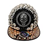 myglory77mall PRANKERS Handmade Flat Cap Snapback Bboy Hats Adjustable Hip-Hop skb1b Black Mesh L For Adults