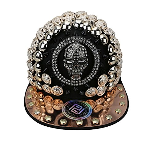 myglory77mall PRANKERS Handmade Flat Cap Snapback Bboy Hats Adjustable Hip-Hop skb1b Black Mesh L For Adults by myglory77mall