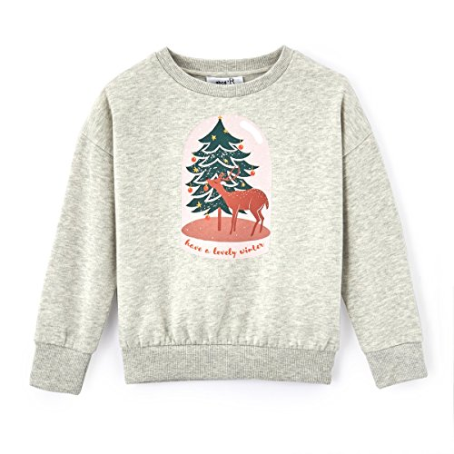 Price comparison product image La Redoute Collections Big Girls Christmas Tree Print Sweatshirt,  3-12 Years&Nbsp; Beige Size 8 Years - 49 in.