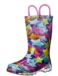 Western Chief Kids Scribble Stars Light Up Rain Boots