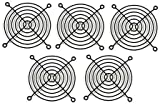 120mm Wire Computer Case Cooling Steel Fan Grill/Finger Guard - Black