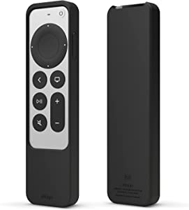 elago R2 Slim Case Compatible with 2021 Apple TV 4K HD Siri Remote 2nd Generation - Slim Design, Light Weight, Scratch-Free Silicone, Shock Absorption, Full Access to All Functions [Black]