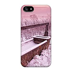 Cute Appearance Cover/tpu FESWnHY6007uTDxo A Pink Winter Day At The Ranch Case For Iphone 5/5s