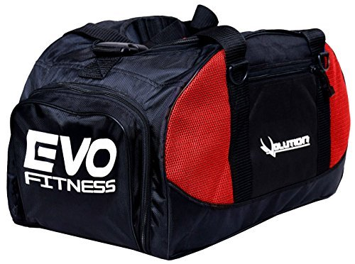 495e27fa562e EVO GYM Sports kit bag backpack Duffle football Fitness Training MMA Boxing  Bags (Red)