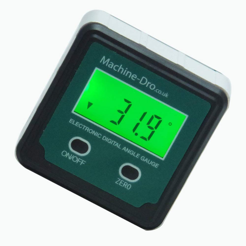 Machine-DRO Digital Angle gage with magnetic base and backlight Machine DRO ME-AN-BB-BU