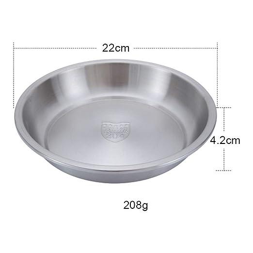Placa de acero inoxidable disco plato plato engrosado hogar ...