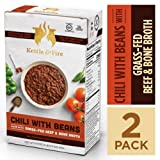 Chili with Beans and Grass Fed Beef and Bone Broth by Kettle and Fire, Pack of 2, Gluten Free Collagen Soup on the Go, Non GMO, 18g of protein, 16.2 fl oz Review