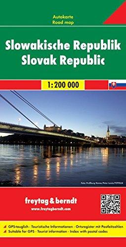 Slowakische Republik, Autokarte 1: 200 000, Freytag Berndt Autokarten