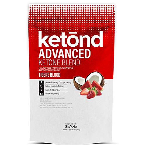 Performance Supplements Advanced (Ketond Advanced Ketone Supplement - 11.7g of goBHB per Serving (30 Servings) - #1 Rated BHB (Beta-HydroxyButyrate) Supplement for Weight Loss, Increased Energy, Focus & Fat Loss (Tigers Blood))