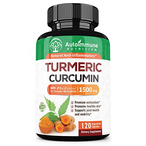 Autoimmune Nutrition Ultimate Turmeric Curcumin with BioPerineⓇ - Premium All Natural Pain Relief and Joint Support | Highest Potency, 100% Non GMO, Gluten Free Supplement, Two Month Supply