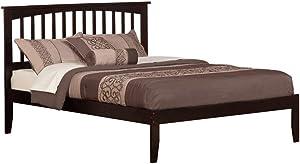 Atlantic Furniture Mission Platform Bed with Open Foot Board, King, Espresso