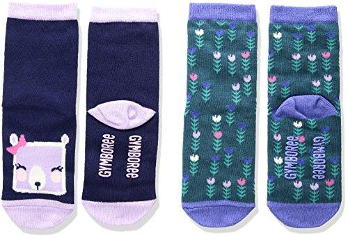 Gymboree Girls' Toddler Animal Socks (2 Pack), Bear, 6-12 -