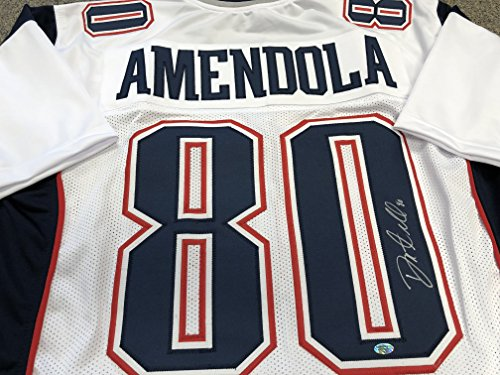 Danny Amendola Autographed Signed New England Patriots White Custom Jersey COA & Hologram