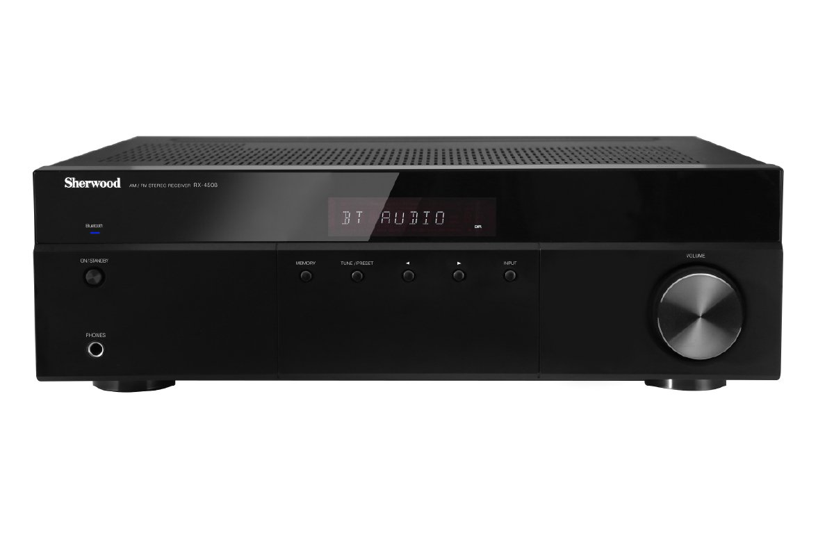 Sherwood RX4508 200W AM/FM Stereo Receiver with Bluetooth, Black by Sherwood