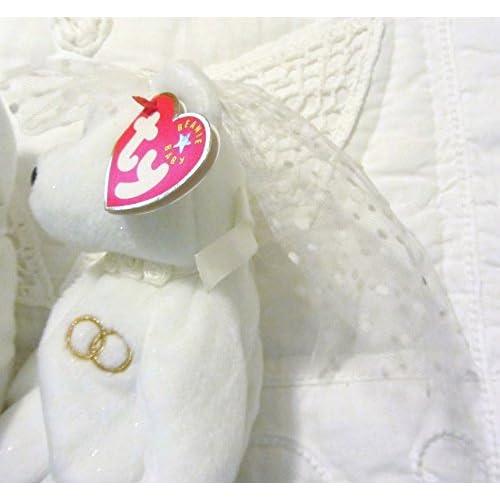 3fdafd6b62b cheap Ty Beanie Baby Mr and Mrs Bear Bride and Groom Wedding Teddy Set of 2