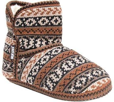 Amazon.com | Muk Luks Women's Mukluk Fairisle Slipper | Slippers