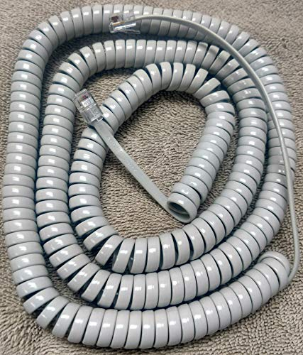 Lot of 5 Nortel Platinum (Light) Gray 25' Ft Long Handset Phone Cord for Norstar T Series T7000 T7100 T7208 T7316 T7316E Meridian Aastra M3900 M3901 M3902 M3903 M3904 M3905 6