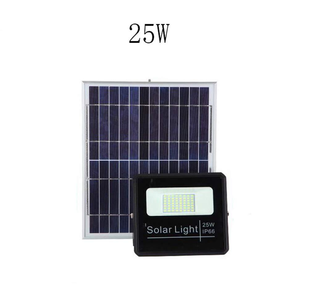 Csndice Home Solare LED Faretto Da Esterno,All'aperto Campagna Safety Lamp Patio Super Bright Luce Proiezione Impermeabile IP65 66 (dimensioni   25W)