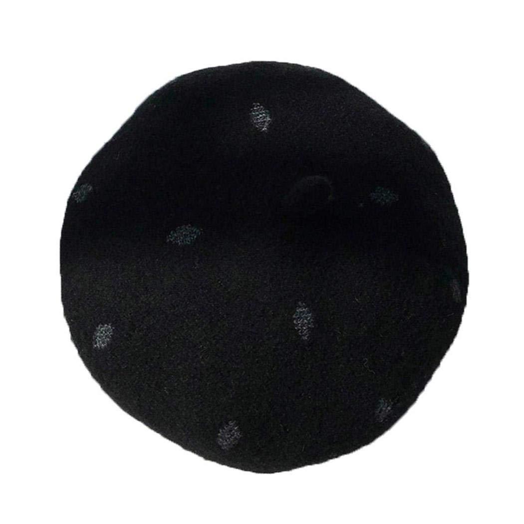 OYTRO Women Pumpkin Hat Retro Style Beret Jacquard Octa Hat Painter Hat Berets