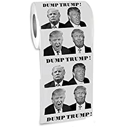 The Gags-Donald Trump Toilet Paper-Funny Novelty President Toilet Paper- Printed on Every Sheetl-Funniest Political Gift of 2016-DUMP TRUMP!