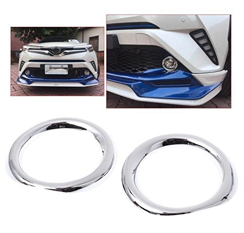 UltaPlay 1 Pair ABS Chrome Car Front Fog Lamp Light Cover Trim For TOYOTA C-HR CHR 2017 2018 Car Exterior Accessories Styling