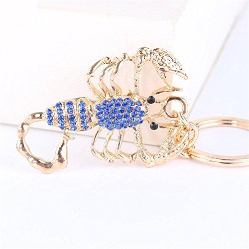 Car bismarckbeer Keyring Decor Keychain Xmas Pendant Scorpion Charm Blue Key Bag Gift aYrqw4YFO