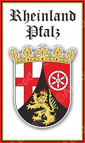 Rheinland Pfalz Germany Coat of Arms Computer Tablet Decal Sticker 3x5 inches