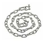 "Extreme Max 3006.6578 BoatTector Stainless Steel Anchor Chain, 1/4"" x 4'"