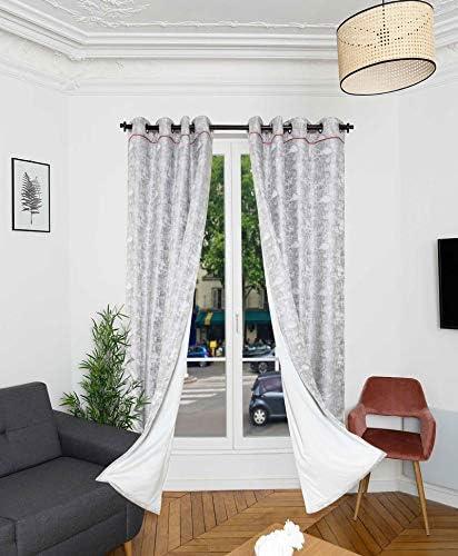 ridphonic rideau 15db bolder 4 couches isolation phonique porte et fenetre rideau occultant thermiques 150x245 h cm rideau acoustique rideau