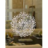 PinWei_ Modern Chrome LED Pendant Lights Globe Dandelion Lights With12 Lights Living Room / Bedroom / Dining Room , 110-120v