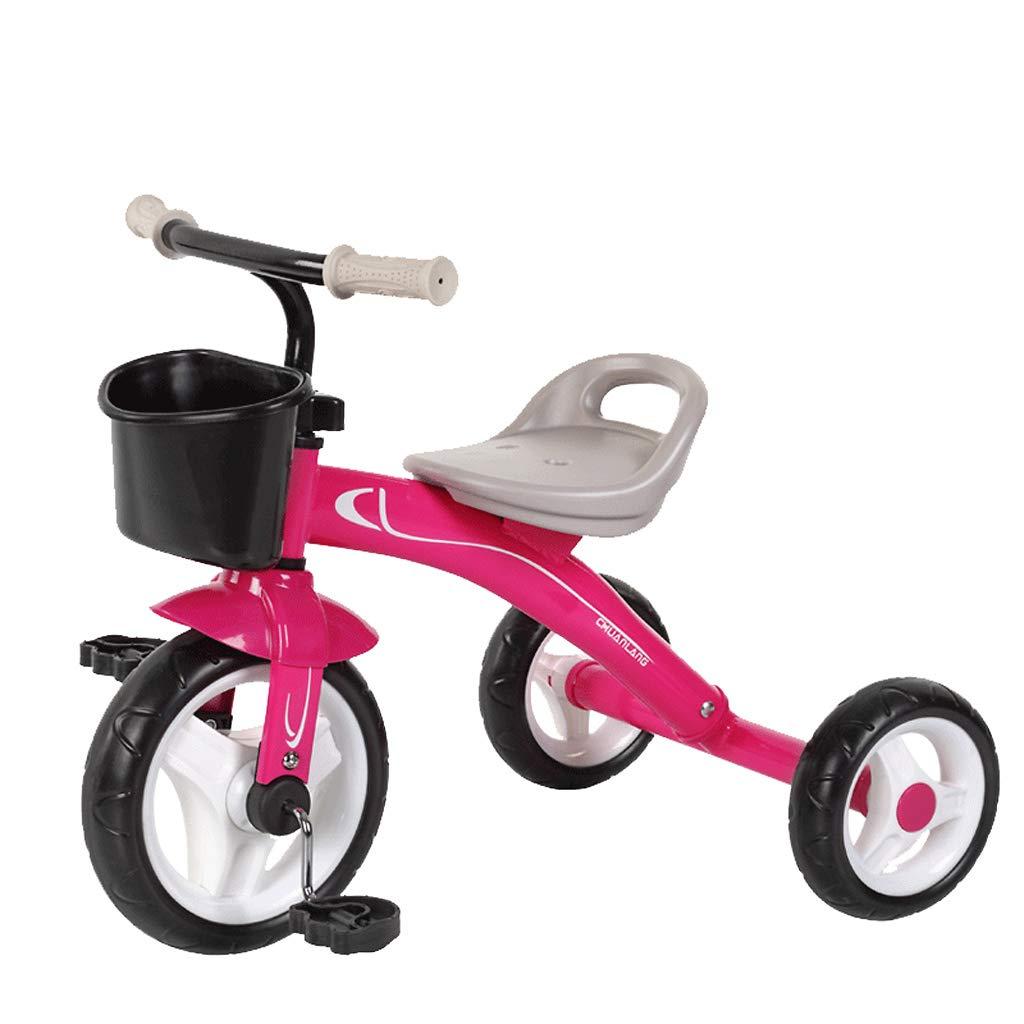 子供の三輪車の赤ちゃんのキャリッジ高炭素鋼の自転車2-5歳の赤ちゃんのペダルの三輪車 (色 : Pink)  Pink B07KF5HRQK