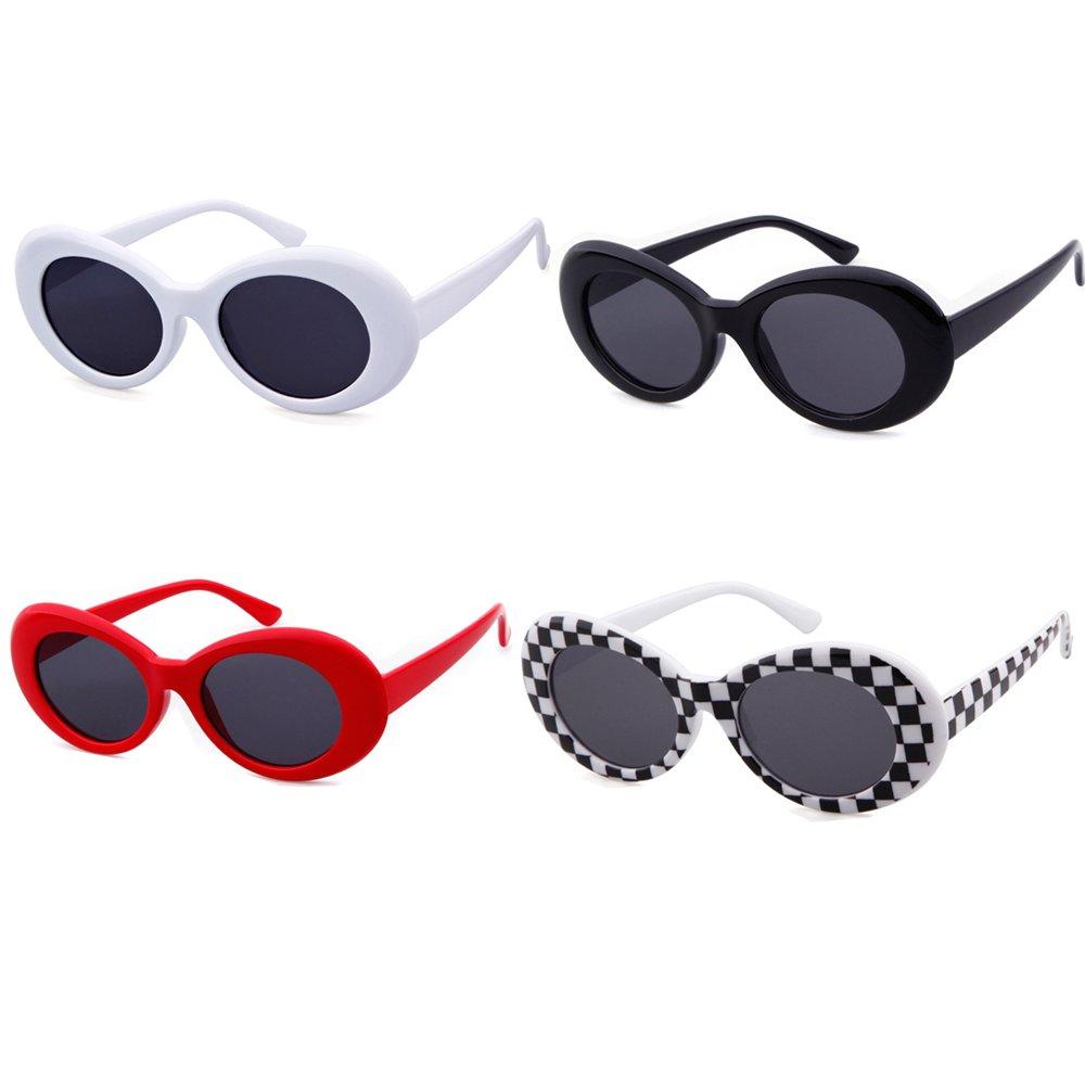 aa64dbea44494 SORVINO Sunglasses Unisex Kurt Cobain Glasses Bold Retro Oval Mod Clout  Goggles