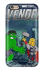 Rugged Skin Case Cover For Iphone 6- Eco-friendly Packaging(avengers)