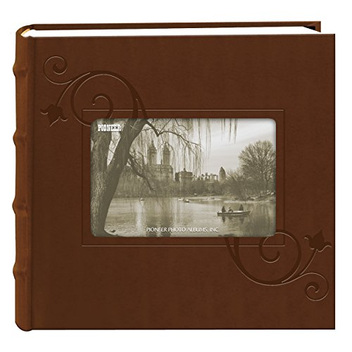 (Pioneer Embossed Floral Frame Leatherette Cover Photo Album, Brown (4