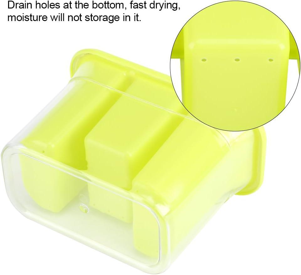 Green Porta posate in plastica Portaposate per bacchette cucchiai utensili tovaglioli cucina di casa