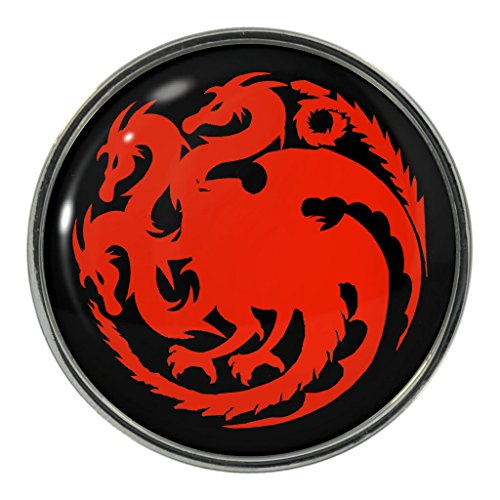 Red Fire Dragon Metal Pin Badge