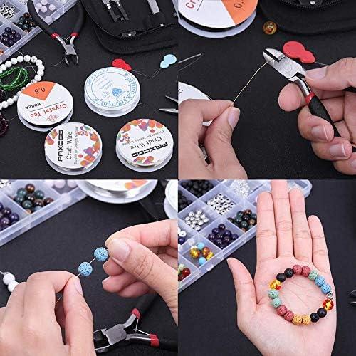 Mains Aidantes et Trouvailles pour R/éParation de Bijoux SODIAL Fournitures pour la Fabrication de Bijoux Kit demballage Fil avec Outils de Perlage de Bijoux Perlage Fil de Bijouterie