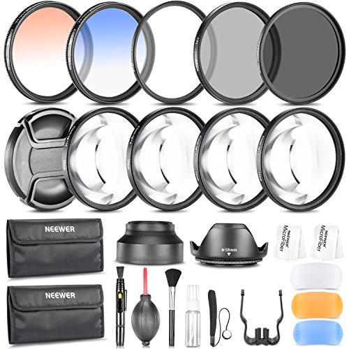 Neewer® Kit de accesorios de fotografía 58MM: Set de filtro (UV+CPL+ND8)+ Filtro de primer plano (+1/+2/+4/+10)+ Filtro de...